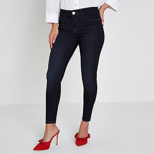Petite dark blue Molly skinny jeggings