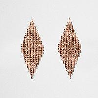 Orange diamante pave diamond earrings