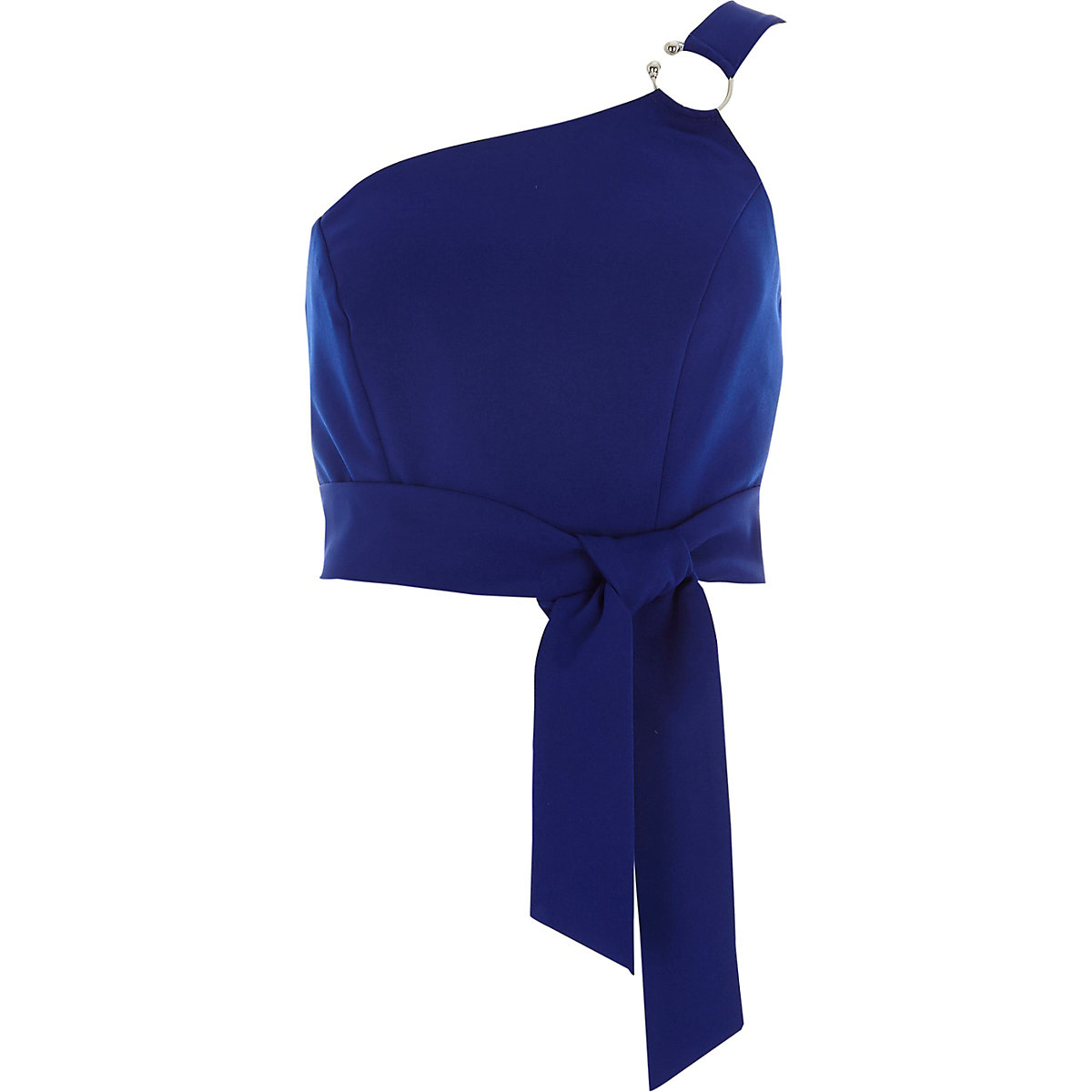 Blue ring one shoulder bralet