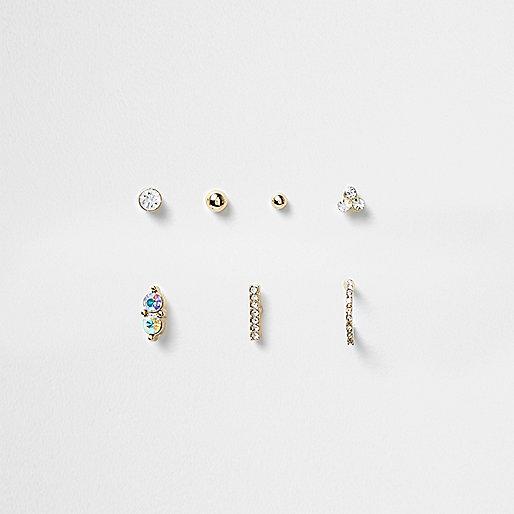 Gold tone piercings set