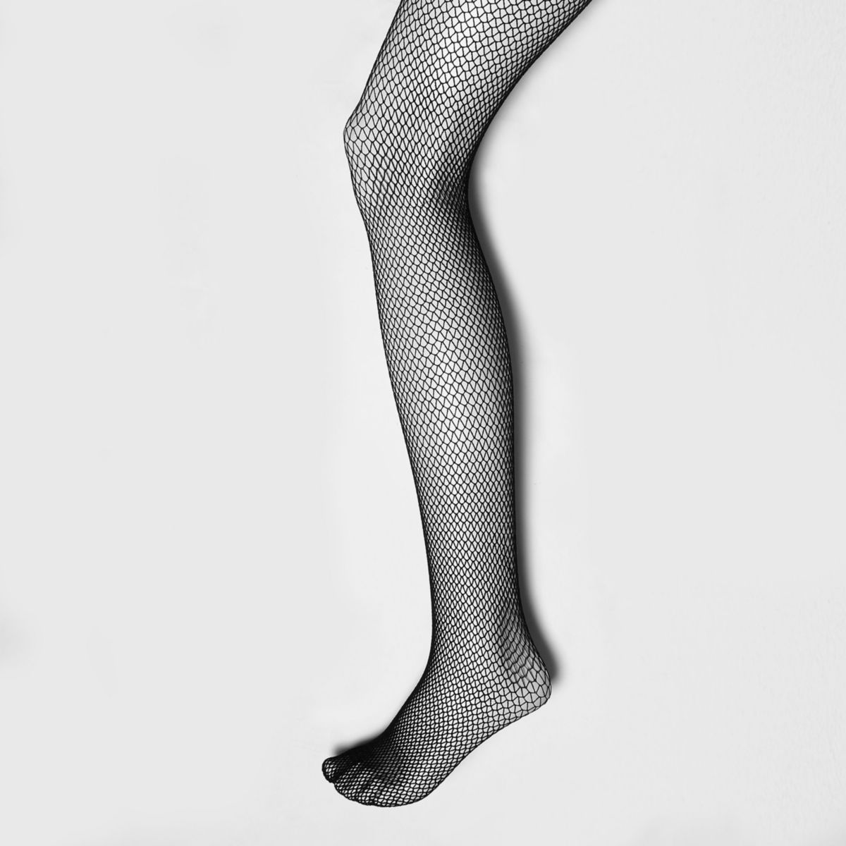Black honeycomb fishnet tights