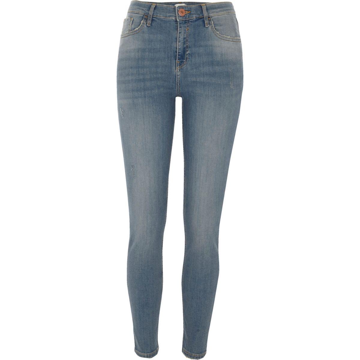 Light blue wash Amelie super skinny jeans