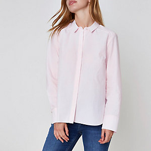 Petite – Pinkes Hemd mit Nadelstreifen