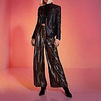 Black RI Studio puff sleeve leather jacket