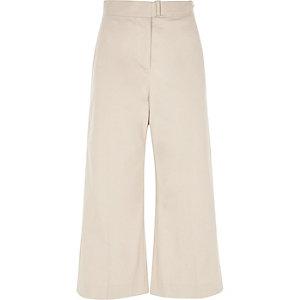 Jupe-culotte beige avec boucle