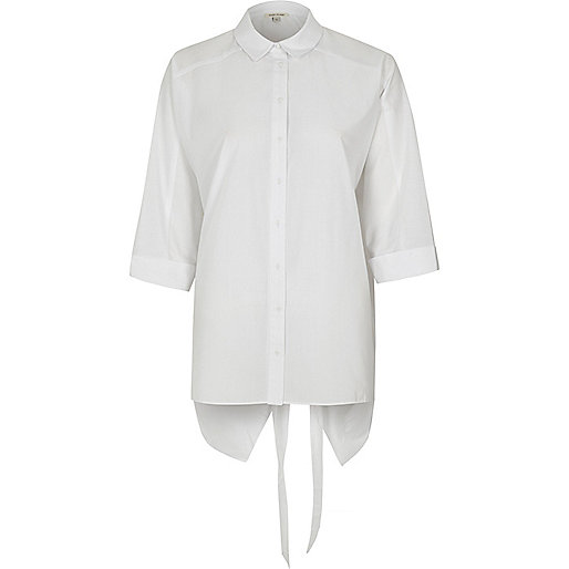 White Ls Nate Tie Back Shirt