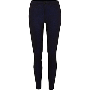 Dark blue Molly glitter skinny jeggings