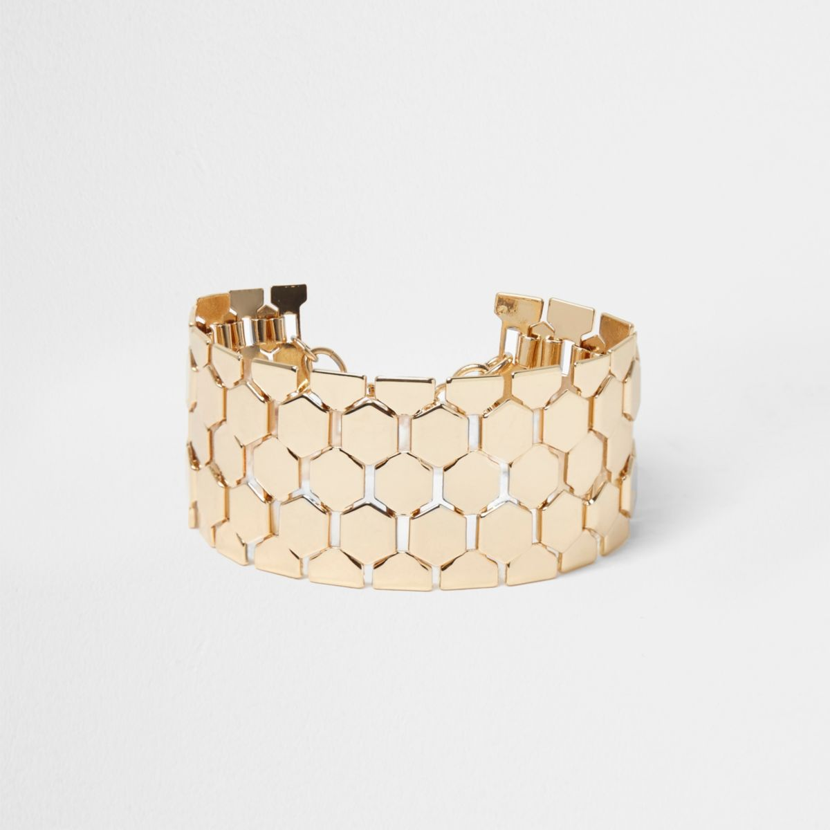 Gold tone chainmail bracelet