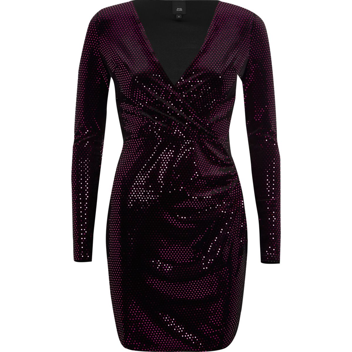 Rosa Bodycon-Kleid mit Paillettenverzierung