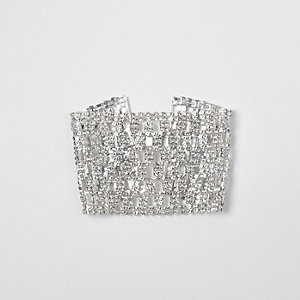 Silver tone cup chain bracelet
