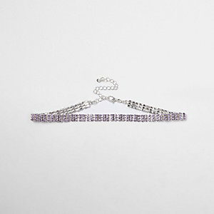 Light purple cup chain choker
