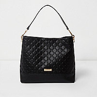 Black monogram slouch underarm bag
