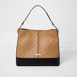 Dunkelbeige Tasche