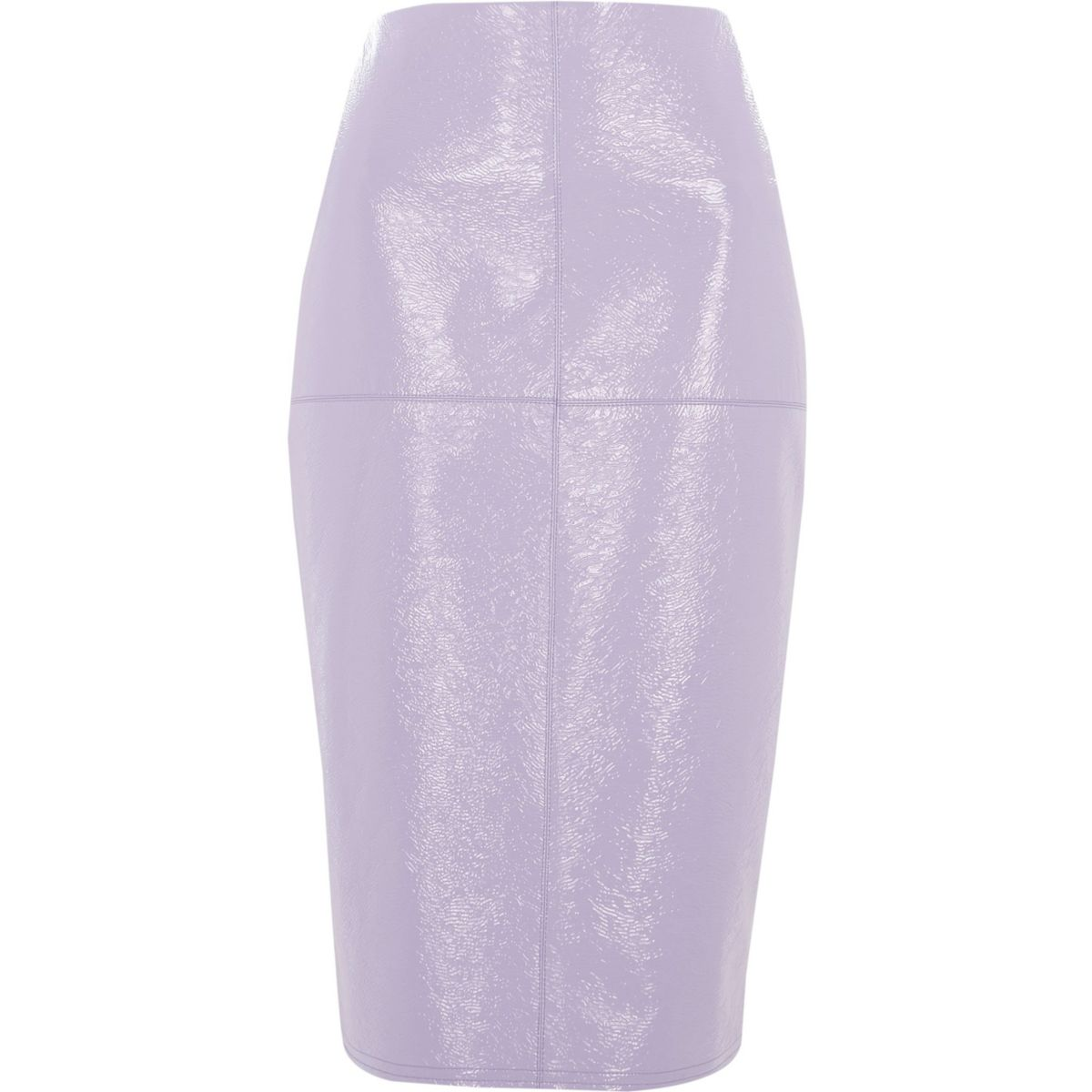 Light purple vinyl pencil skirt