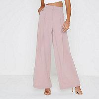 Pantalon large rose clair