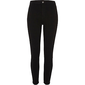 Black side zip Molly going out jeggings