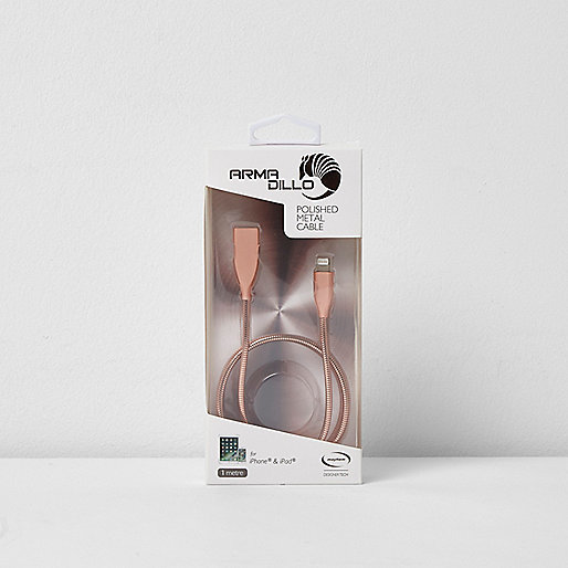Armadillo rose gold metal power cable