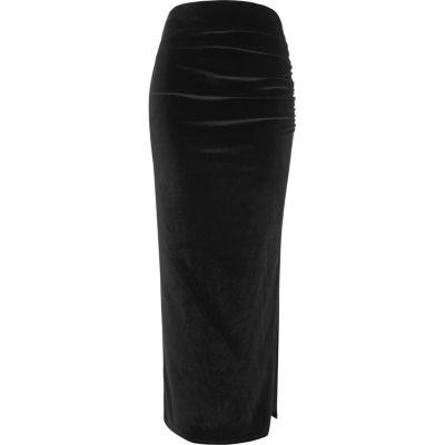 Just black velvet skirt