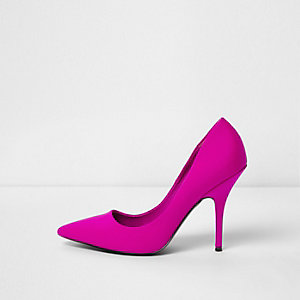 Pink scuba court shoes