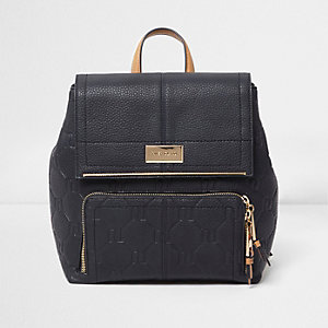 Navy RI embossed backpack