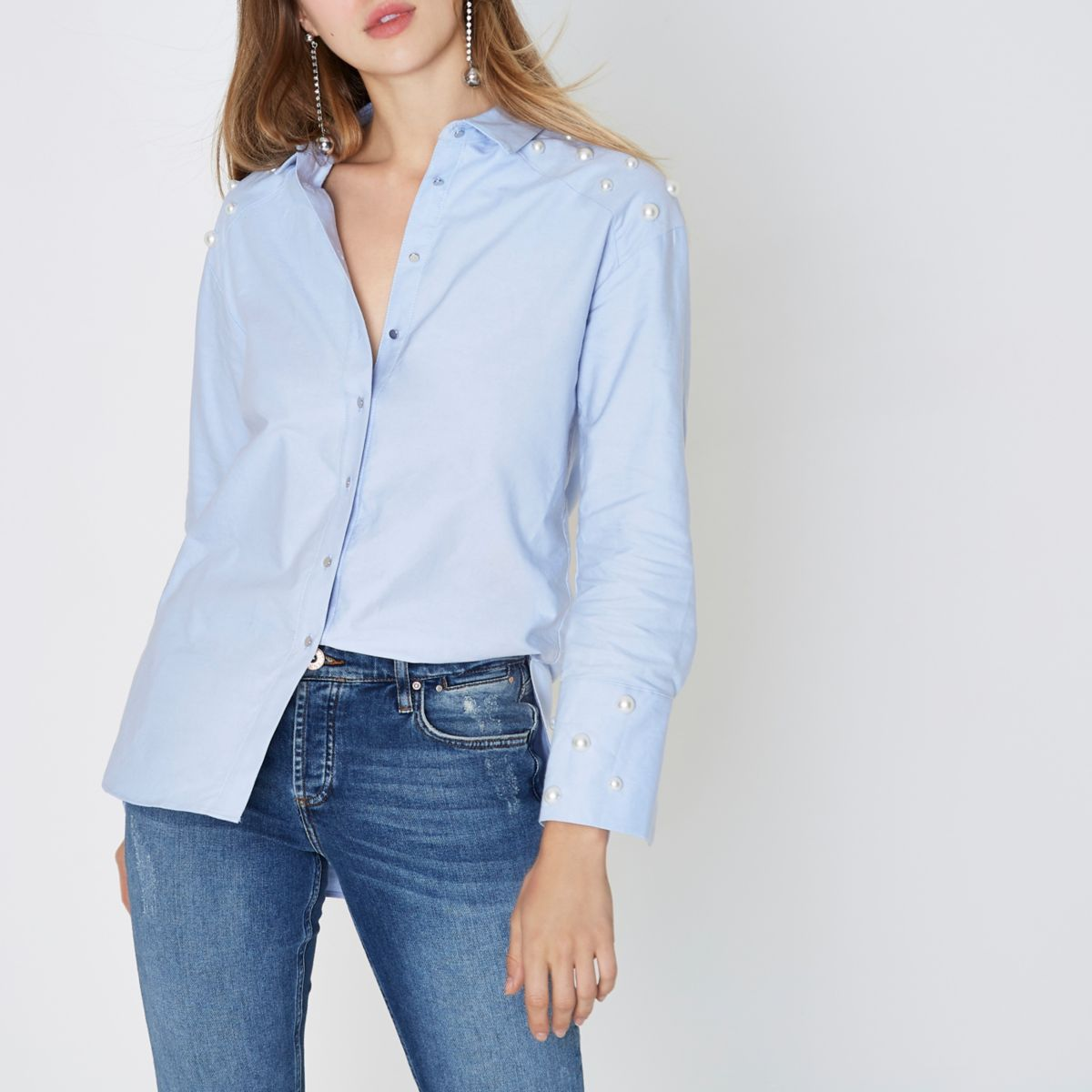 Light Blue Womens Polo Shirt