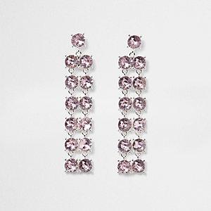 Purple cup chain drop earrings