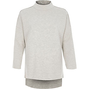 Light grey turtle neck sweatshirt