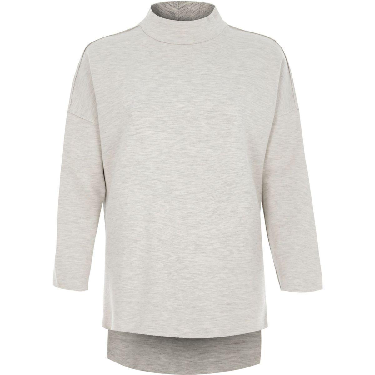 Light grey turtle neck sweatshirt
