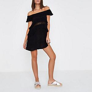Bardot-Strandkleid mit Rüschen
