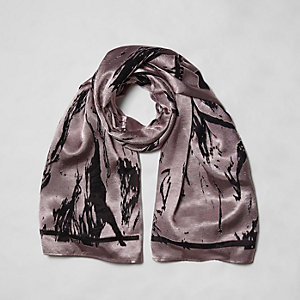 Light pink burnout scarf