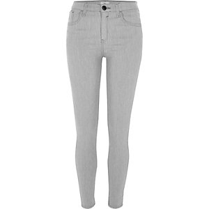 Amelie – Super Skinny Jeans in hellgrauer Waschung
