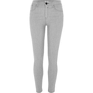 Amelie - Jean super skinny délavage gris clair