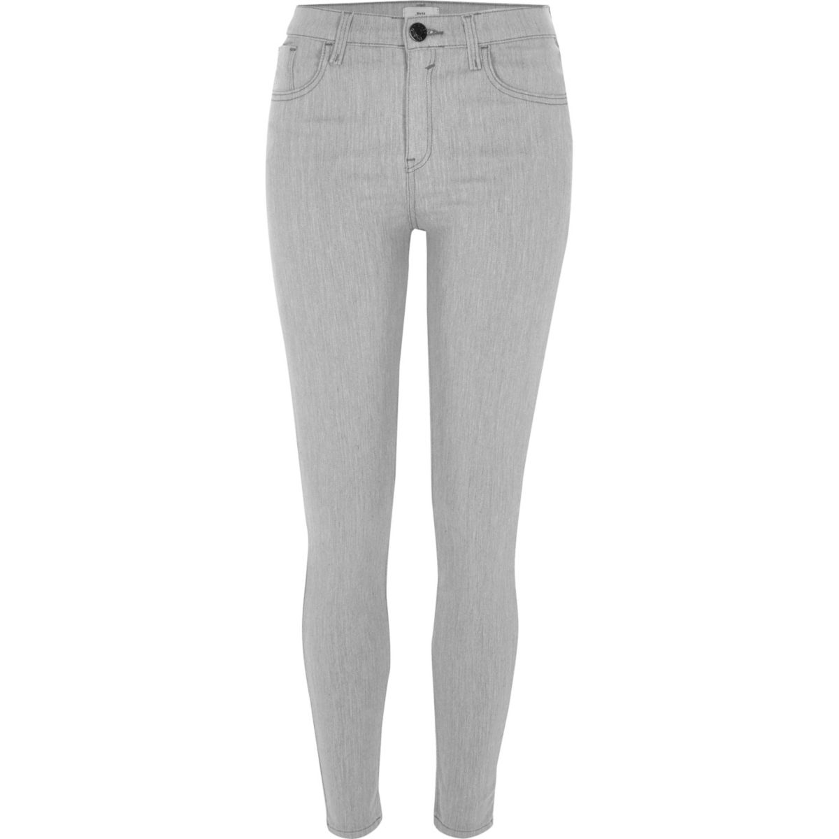Light grey wash Amelie super skinny jeans