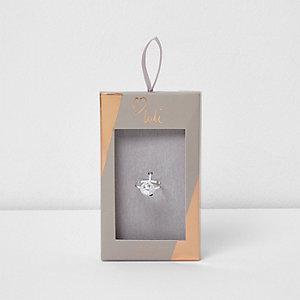 Love Luli – Bague plaquée argent avec pierre en zircon cubique