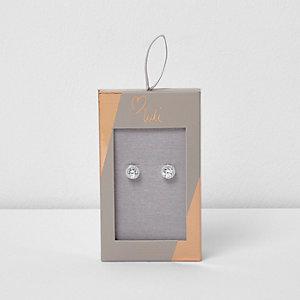 Silver tone Luli cubic zirconia earrings