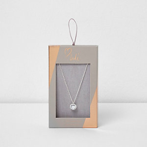 Silver plated Love Luli pendant necklace