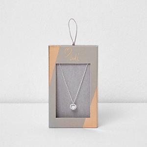 Silver tone Luli cubic zirconia necklace