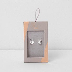 Love Luli - Verzilverde druppelvormige oorbellen