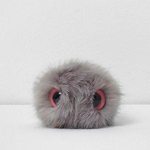 Pompon détachable œil gris clair