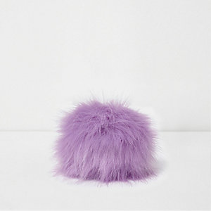 Pompon violet clair détachable