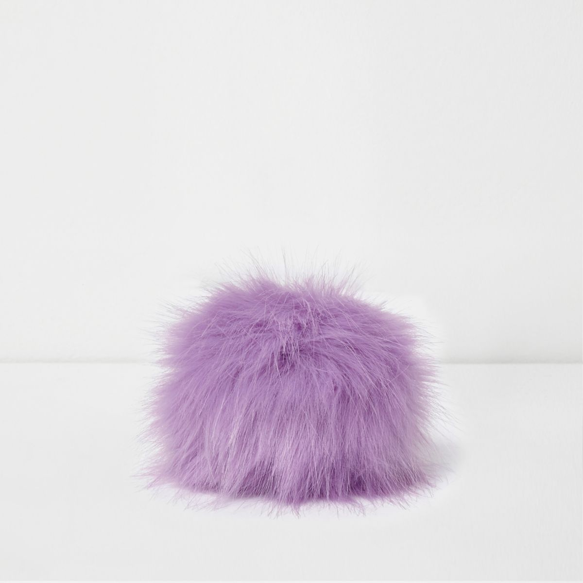 Light purple detachable pom pom