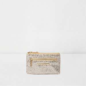 Gold glitter mini purse