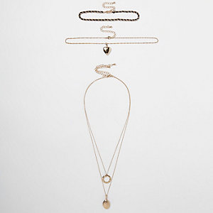 Goldenes Choker-Set