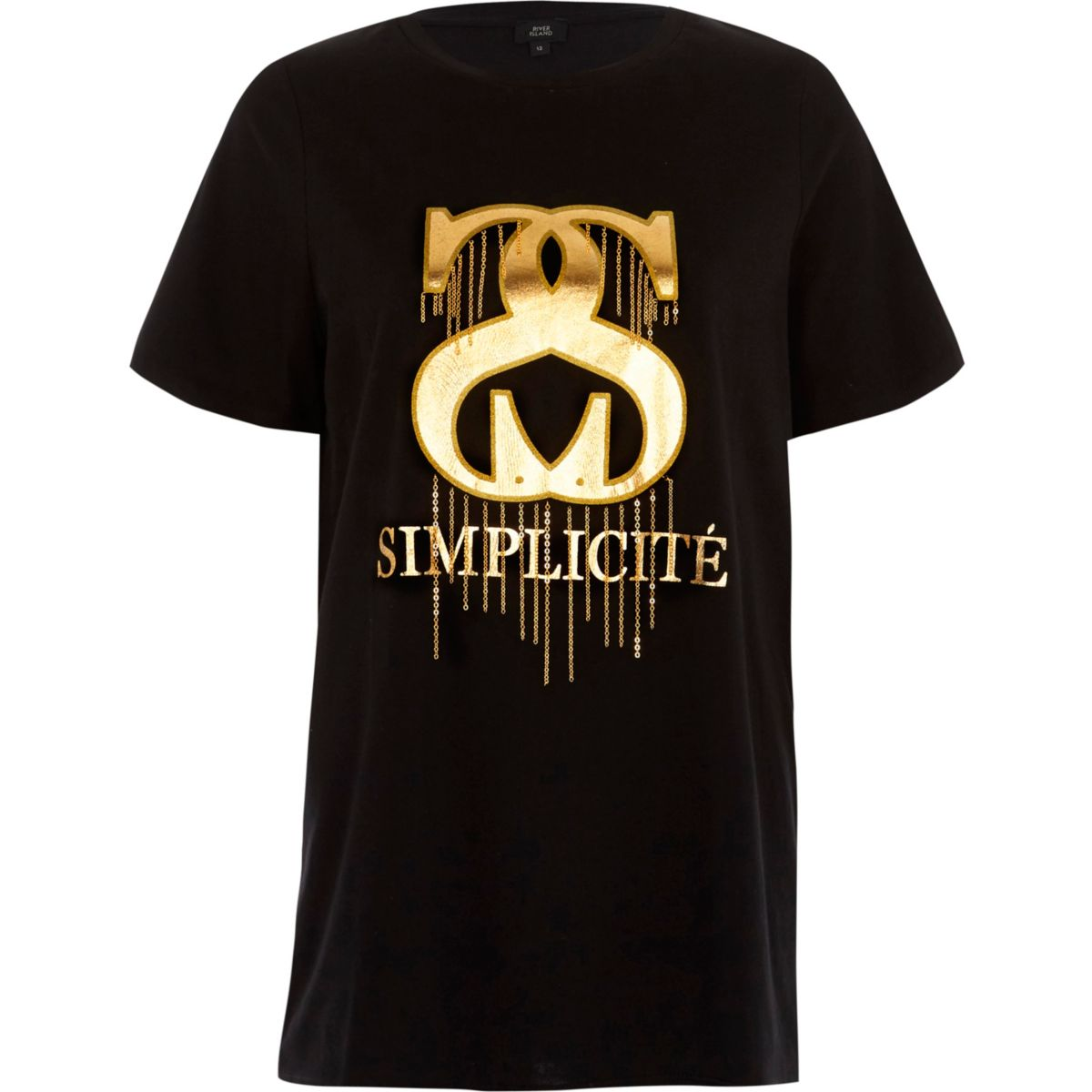 "Schwarzes T-Shirt ""Simplicite"""