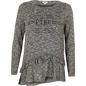 """Graues, langärmliges T-Shirt """"etre"""""""