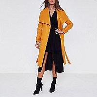 Manteau peignoir orange long