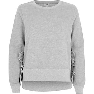Grey frill detail sweatshirt