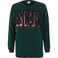 """Grünes Sweatshirt """"Escape"""" mit Quasten"""
