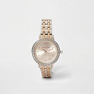 Armbanduhr in Silber und Roségold