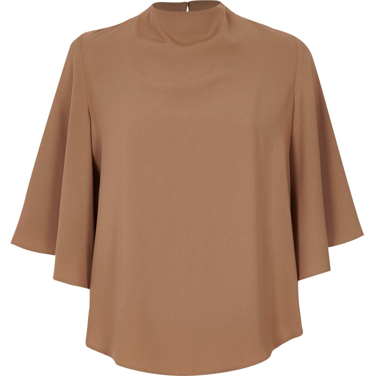 Light brown cape top